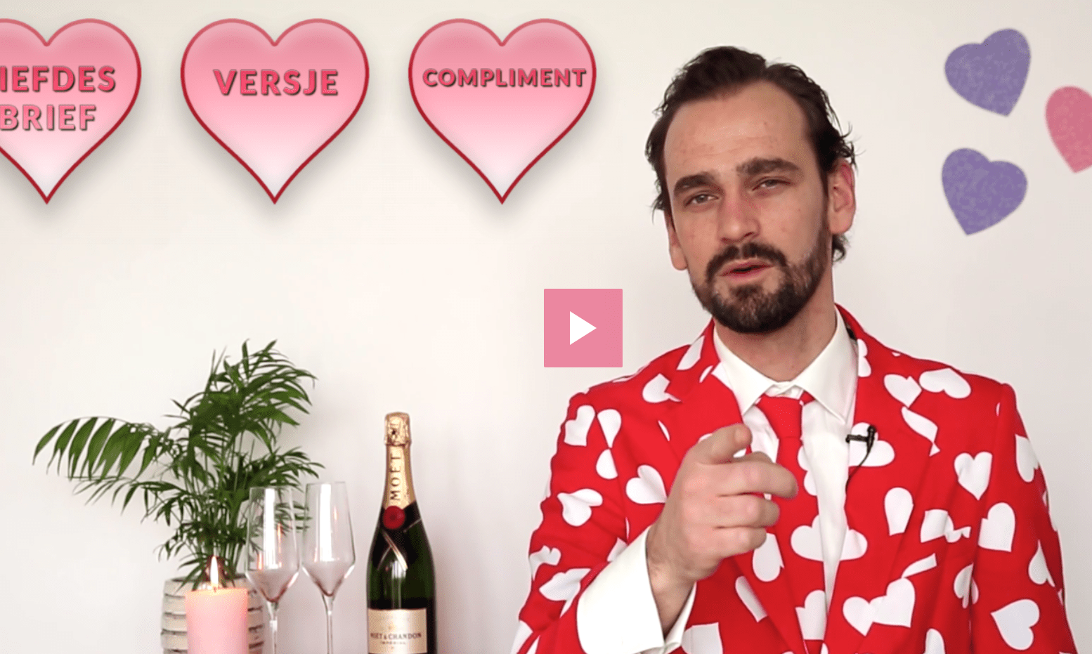 Header image for Valentine's video: avoid the blues