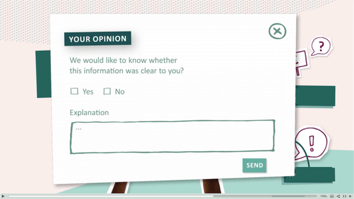 feedback form interactieve video