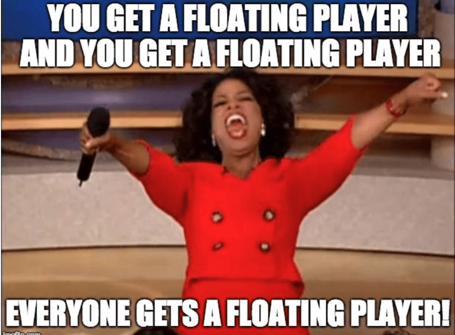 floating player meme