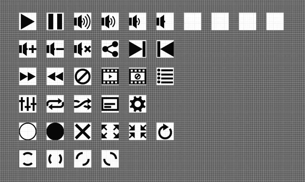 CSS styleable vector based icons