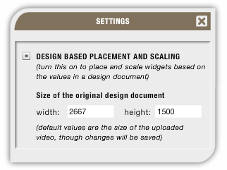 design based placement and scaling