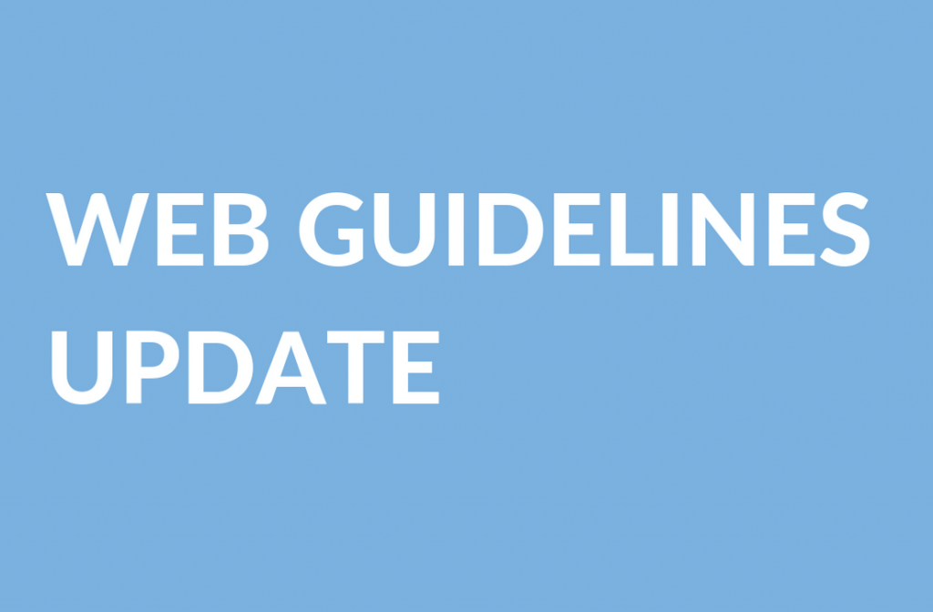 Web Guidelines Update
