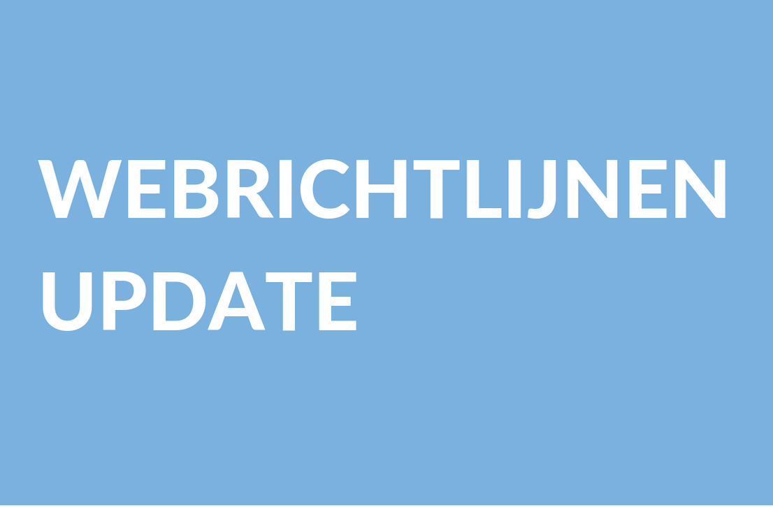 Header image for WACG Webrichtlijnen update