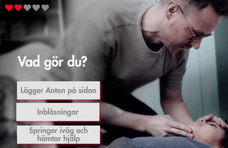 Header image for Interactive campaign Red Cross Sweden