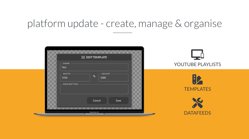 Header image for Platform update – YouTube Playlists, Templates & Datafeeds