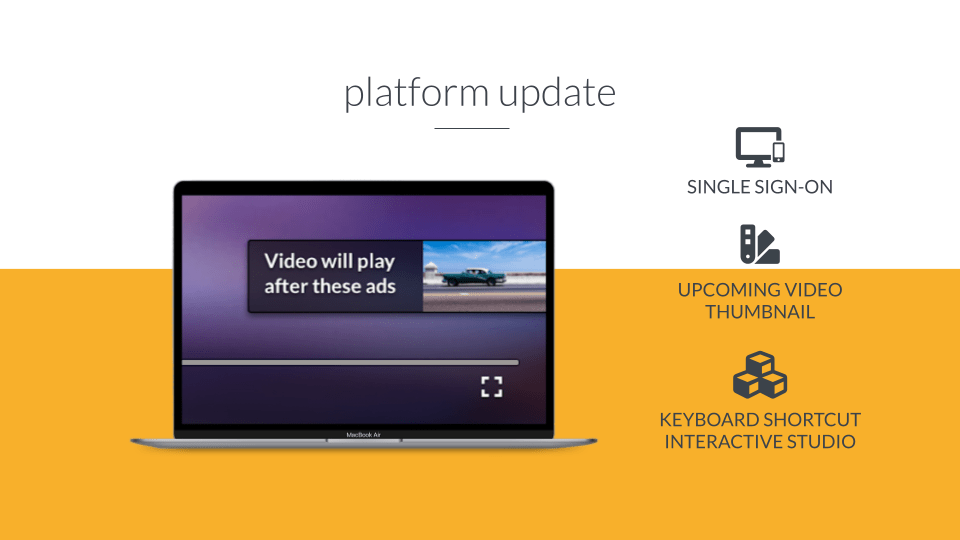Header image for Platform update – new features and improvements