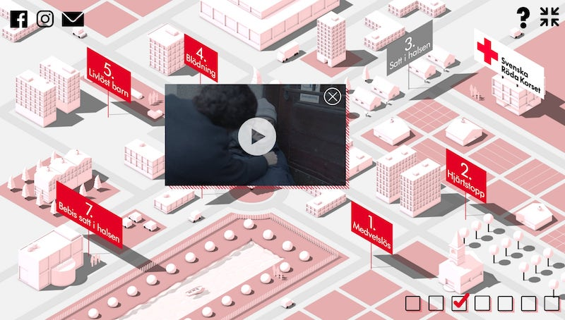 Header image for How the Swedish Red Cross saves lives with interactive video